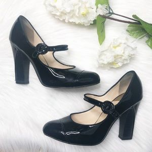 COLE HAAN Air Mary Jane Black Patent Leather Heels